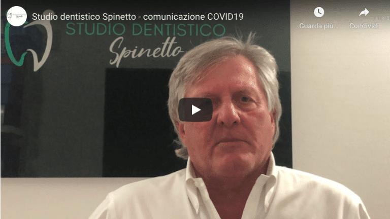 video comunicazione ai pazienti dello Studio dentistico Spinetto