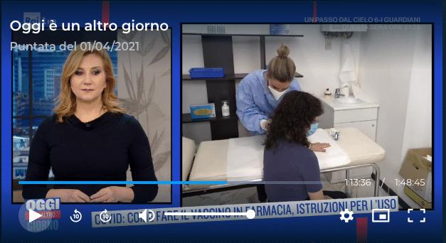 vaccini in farmacia a Chiavari - Giulia Spinetto diretta RAI